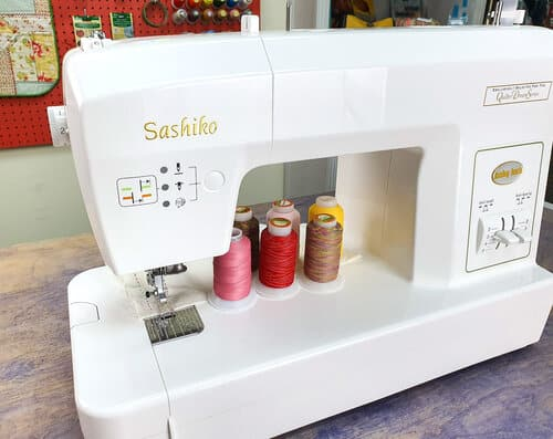 Silco™ can be used for machine sashiko. With its lint free properties, your stitches will be crispy clean.