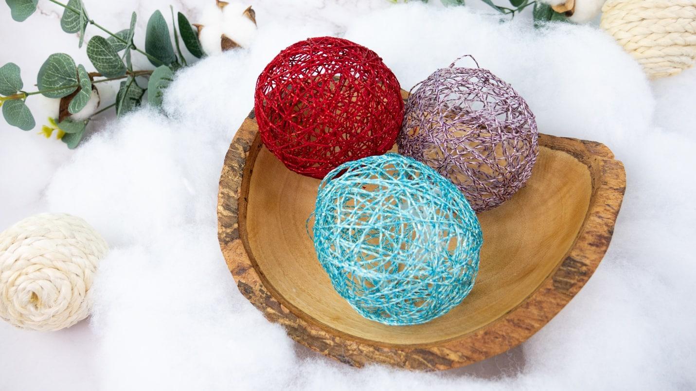 Easy DIY Thread Wrap Ornaments