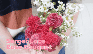 A person holding a bouquet of flowers Description automatically generated with medium confidence